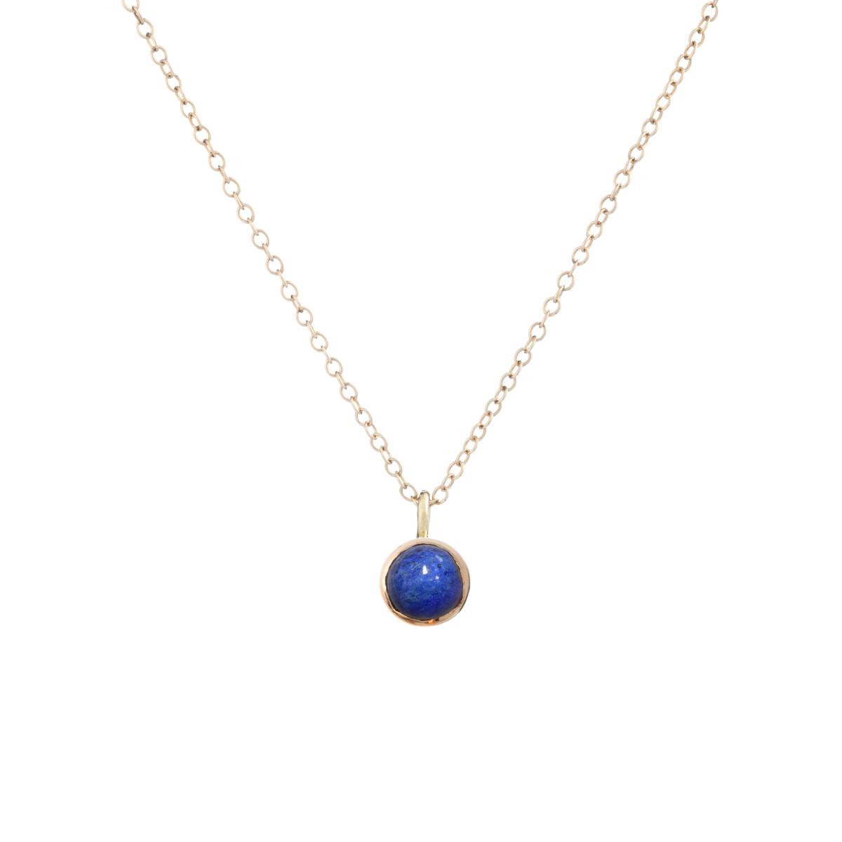 Blossom pendant with lapis lazuli