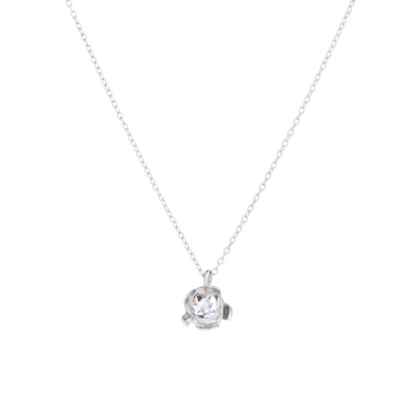 BLOSSOM floret pendant with rock crystal