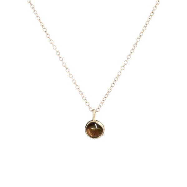 Blossom bud pendant with smoky quartz