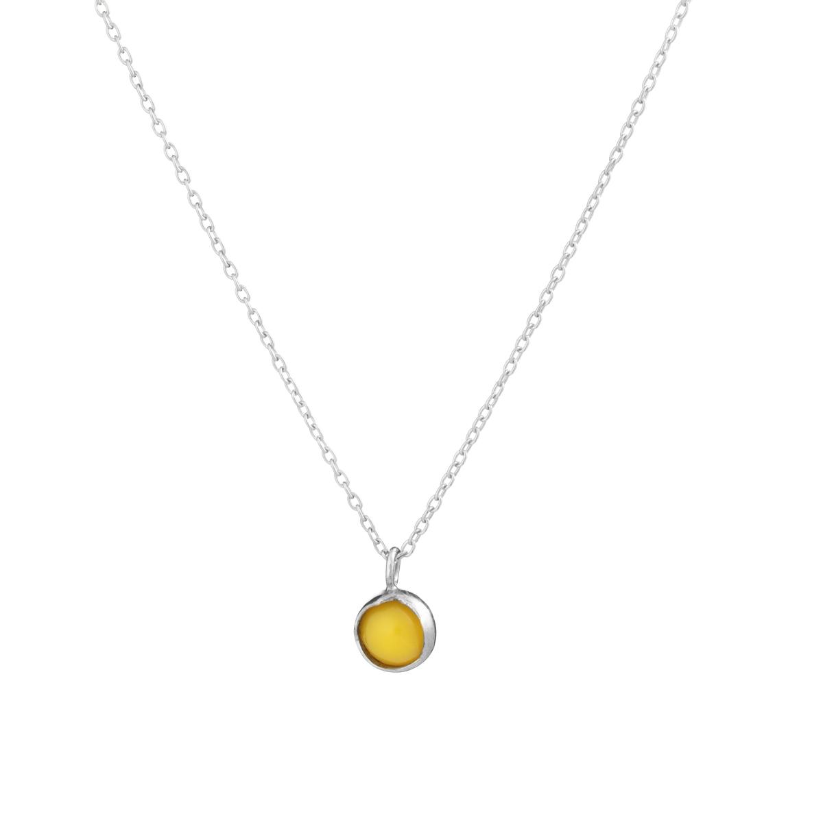 BLOSSOM bud pendant with egg yolk amber