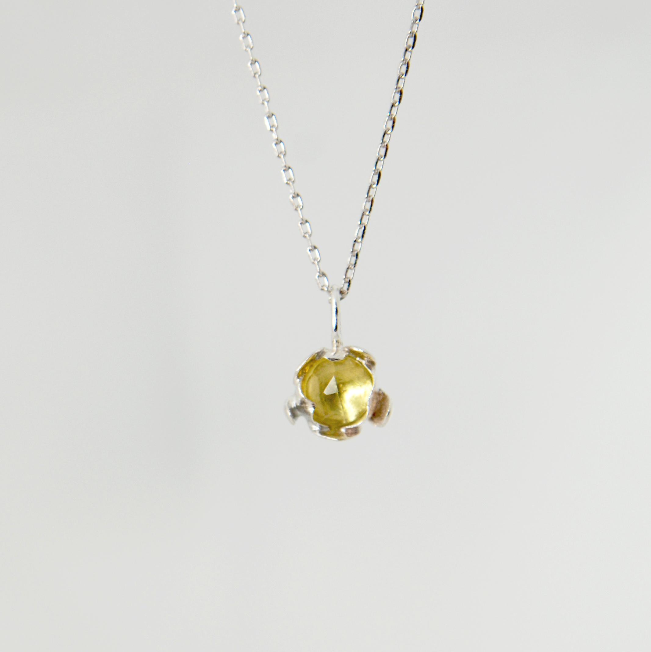 BLOSSOM floret pendant with citrine