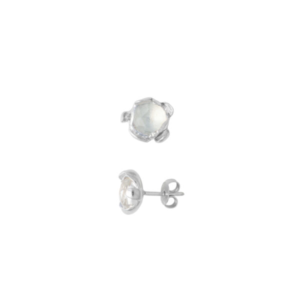 BLOSSOM stud earrings with rock crystal