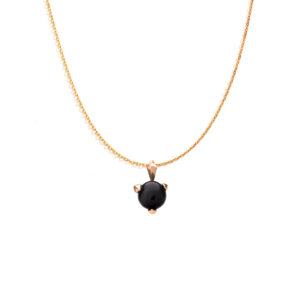 Bones golden necklace with Black Onyx