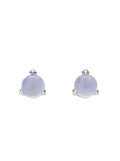 Bones mini earrings with light lavender chalcedony