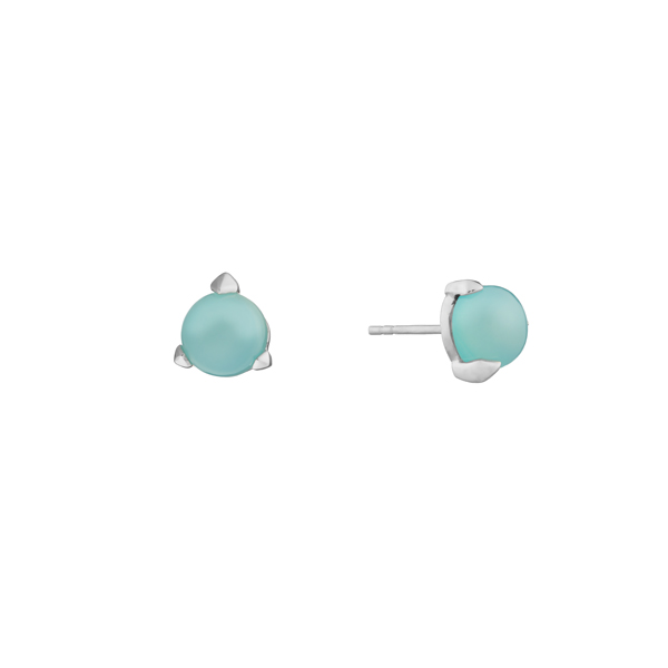 Bones Mini Earrings Mint Chalcedony
