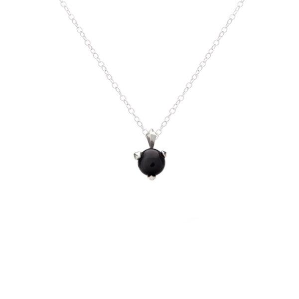 Bones Necklace With Black Onyx