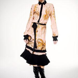 MIDI OCTOPUS SHIRT DRESS