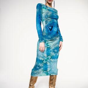 OCTOPUS BAMBOO JERSEY DRESS