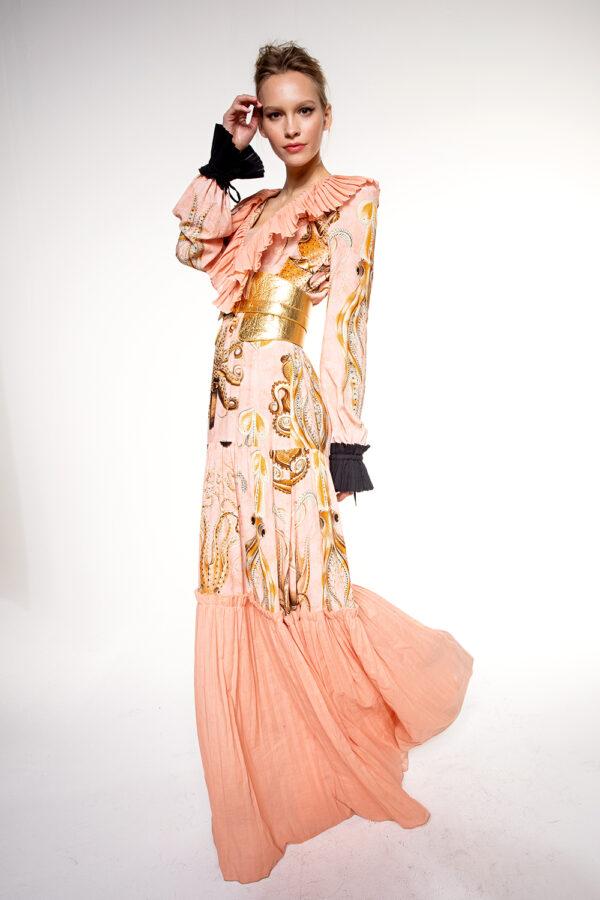 OCTOPUS VEGAN LONG DRESS