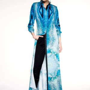 OCTOPUS VEGAN SILK SHIRT DRESS
