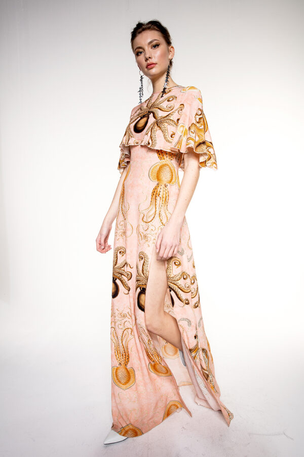 LONG OCTOPUS VEGAN DRESS