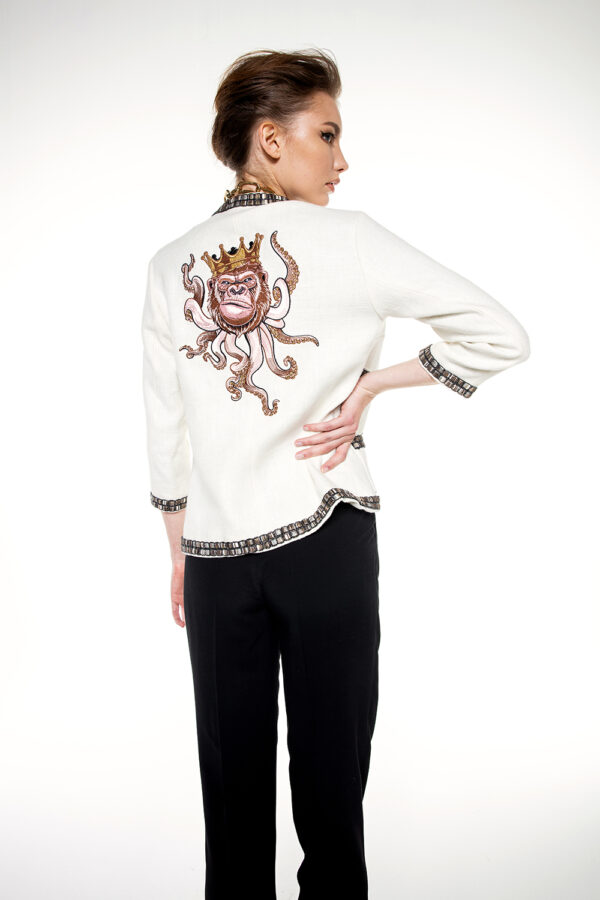 EMBROIDERED ORGANIC JACKET