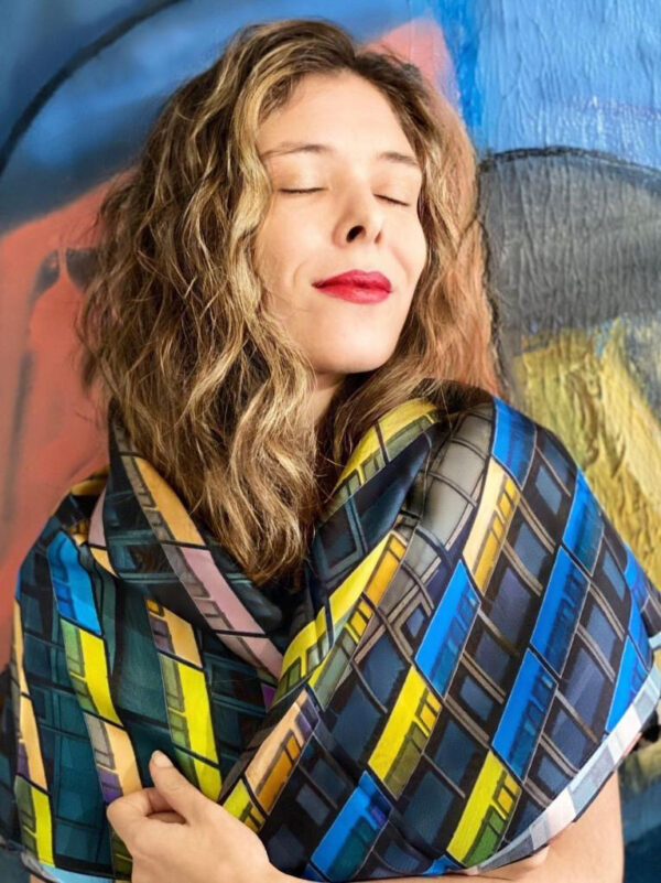 'Urban decay' luxury scarf