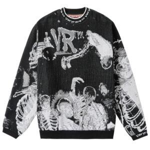 Die Knit Jacquard Crewneck/Sweater