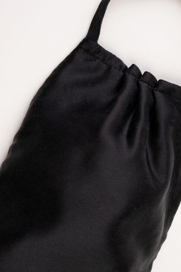 Classic Black Silk Face Mask with a defensive nanomembrane