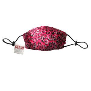 "Silk Face Mask ""Pink Leopard"" Print"