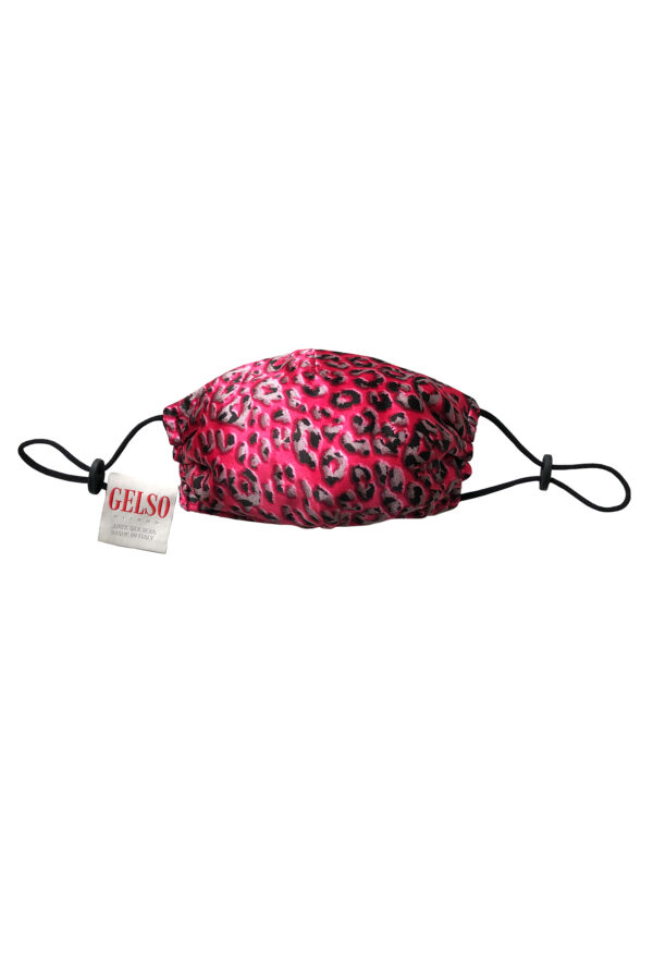 """Silk Face Mask """"Pink Leopard"""" Print with a defensive nanomembrane"""