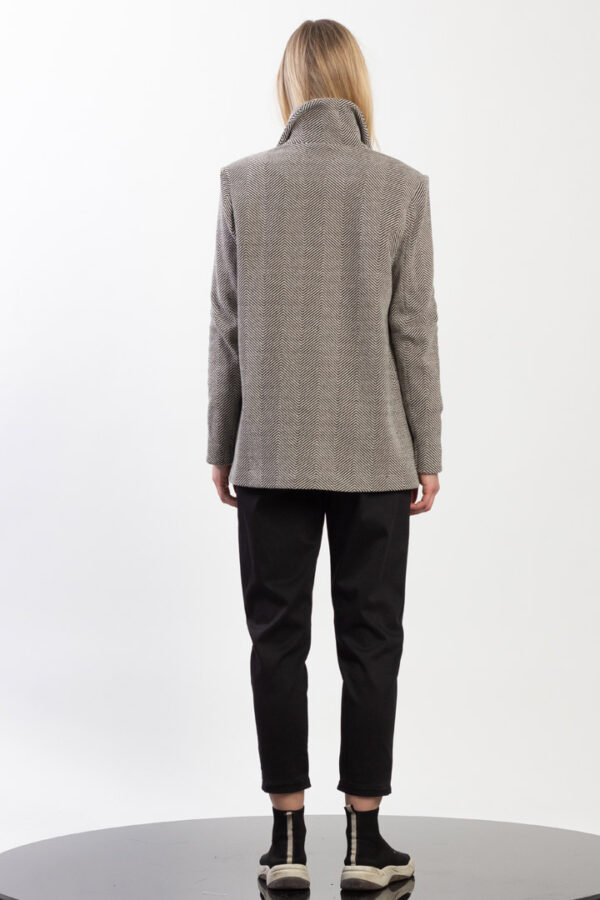 Single Breasted Noched Collar Jacket