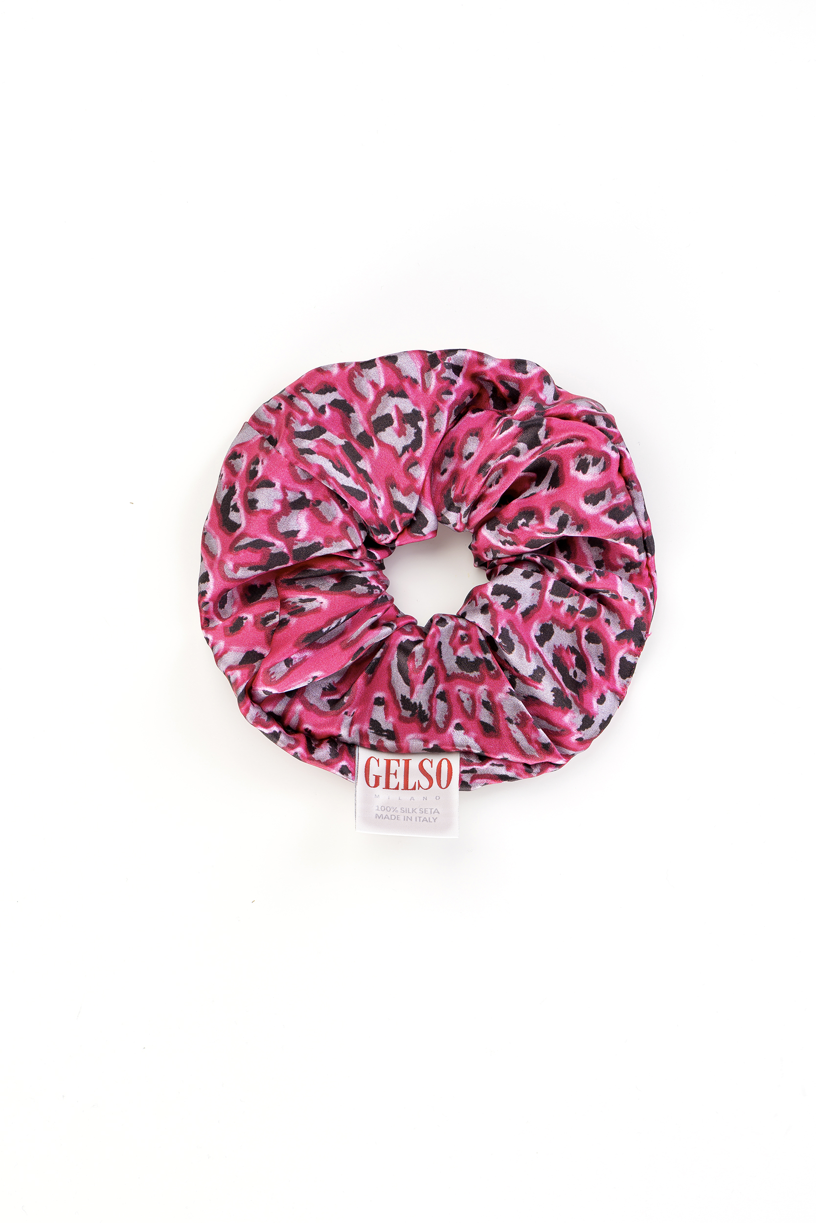"Hair Accessories Scrunchie ""Pink Leopard"" Print"