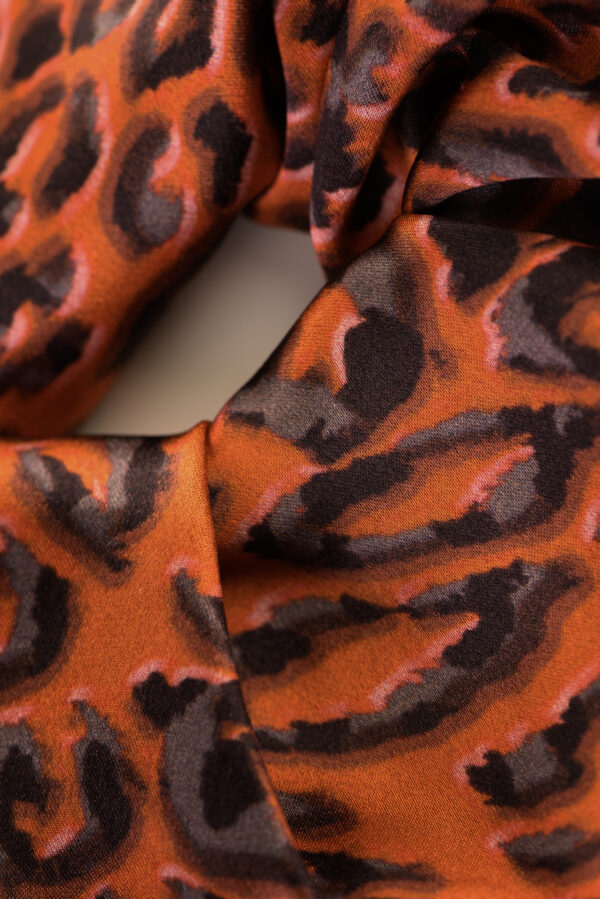 "Silk Scrunchy ""Red Leopard"" Print"