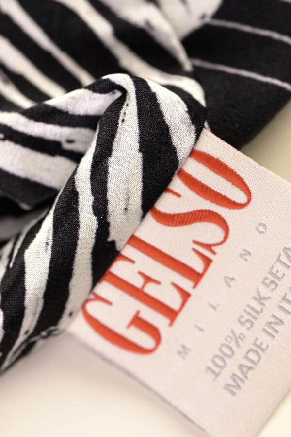 "Silk Face Mask ""Black Zebra"" Print"