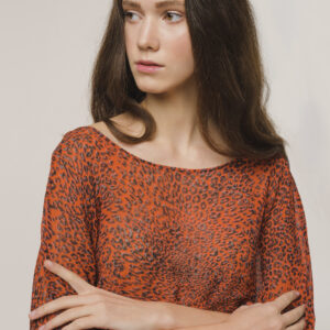 Red Animalier Top
