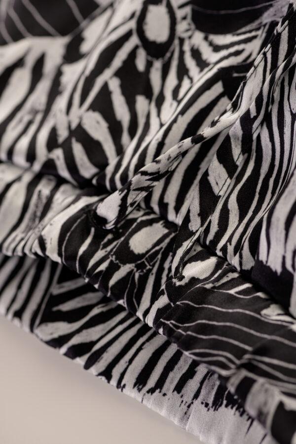 """Baby Pajamas Silk Pants """"Black Zebra"""" Print"""