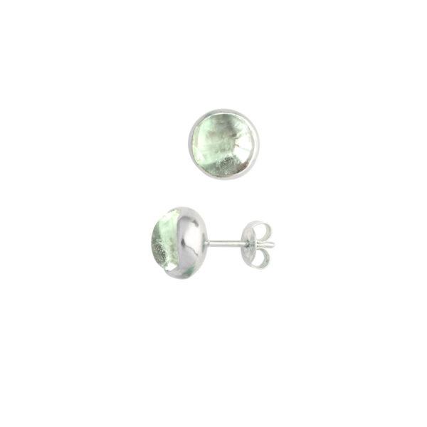Blossom bud earrings with fluorite