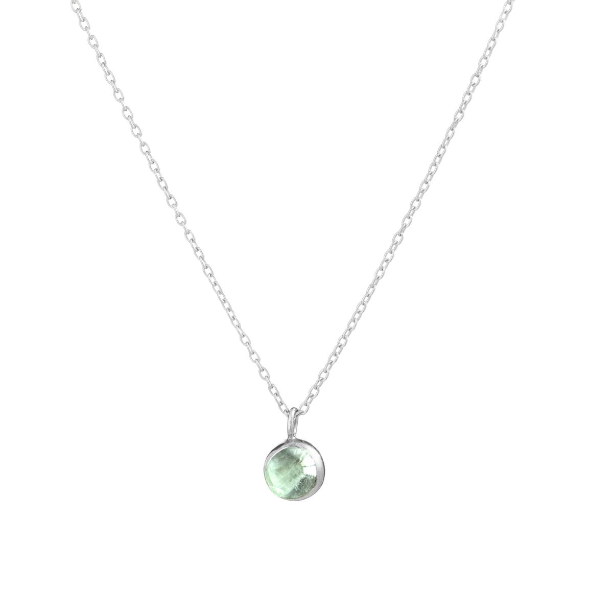 Blossom bud pendant with fluorite
