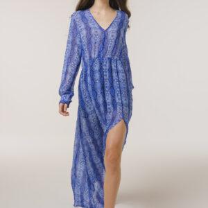 Long Silk Dress Python Print