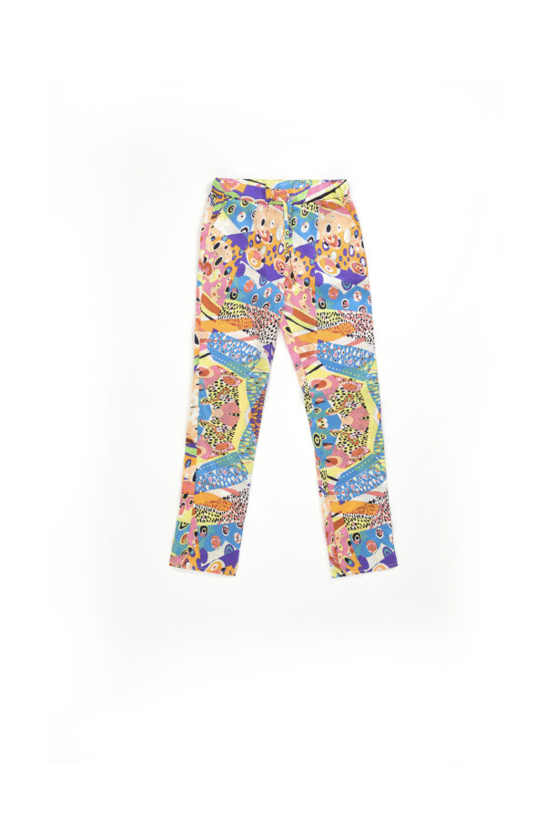 "Baby Silk Pyjamas Set Pants ""Harlequin"" Print"