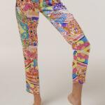 "Pajamas Made in Italy Silk Pants ""Harlequin"""