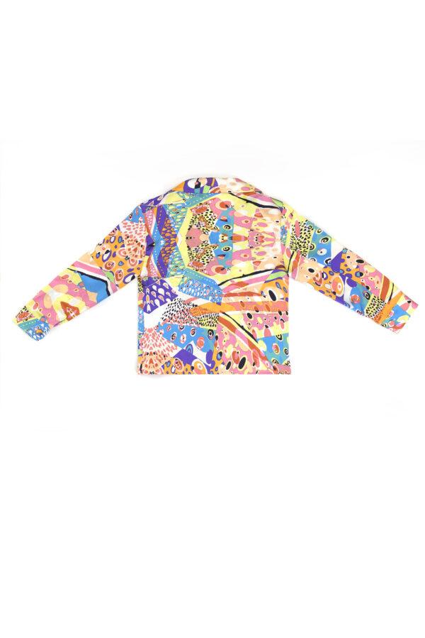 "Baby Silk Pajama Set Shirt ""Harlequin"" Print"