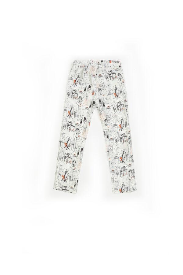 """Baby Pajamas Silk Pants """"Woman"""" Print"""