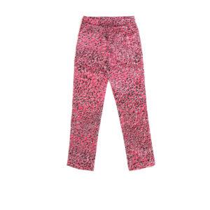 "Baby Silk Pajamas Pants ""Pink Leopard"" Print"