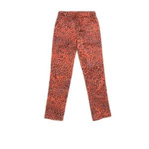 "Kids Pajamas Pants ""Red Leopard"" Print"