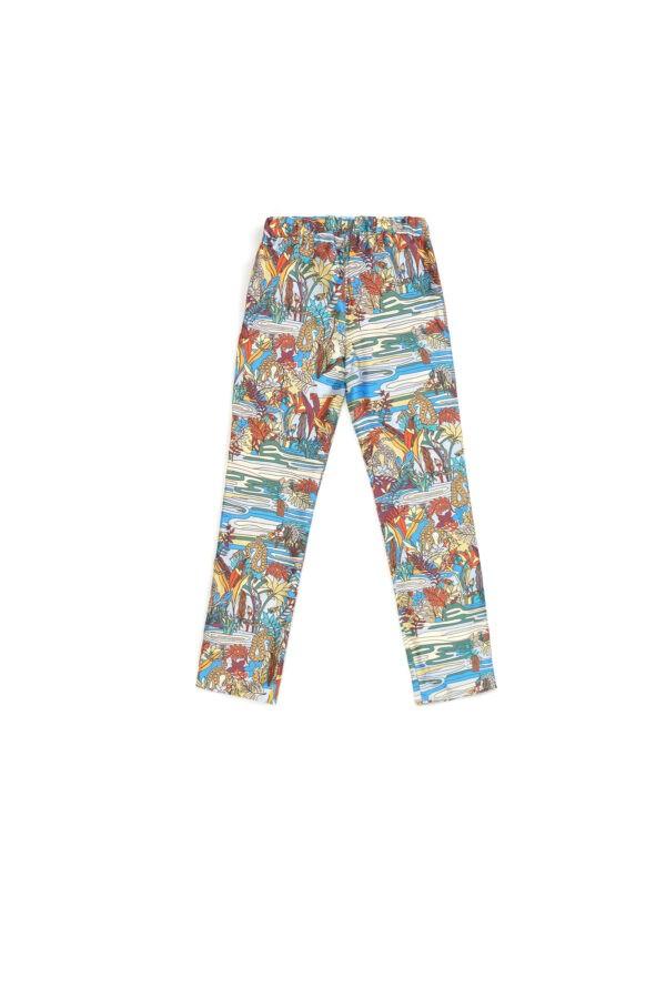 """Baby Silk Pajamas Pants """"Swamp"""" Print"""