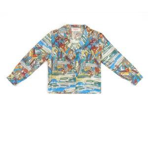"""Baby Silk Pajamas Shirt """"Swamp"""" Print"""