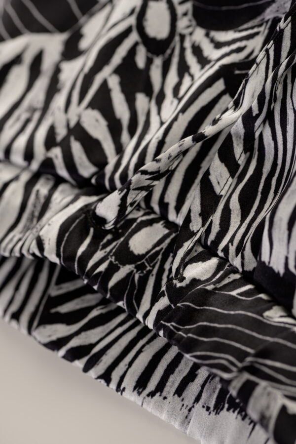 "Printed Silk Pyjamas Pants ""Black Zebra"""