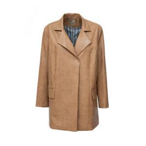 Stylish Faux Leather Blazer