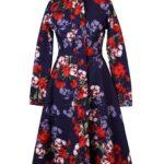 Blue and Red Designer Coat for Women | 'Royal Blue'