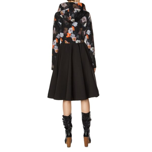 Flared Coat with high-low hem line