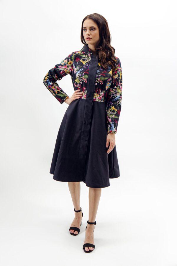 Hooded Long Women's Overcoat: front