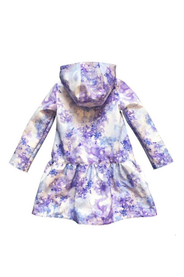 Light Blue Trapeze Raincoat for Girls back