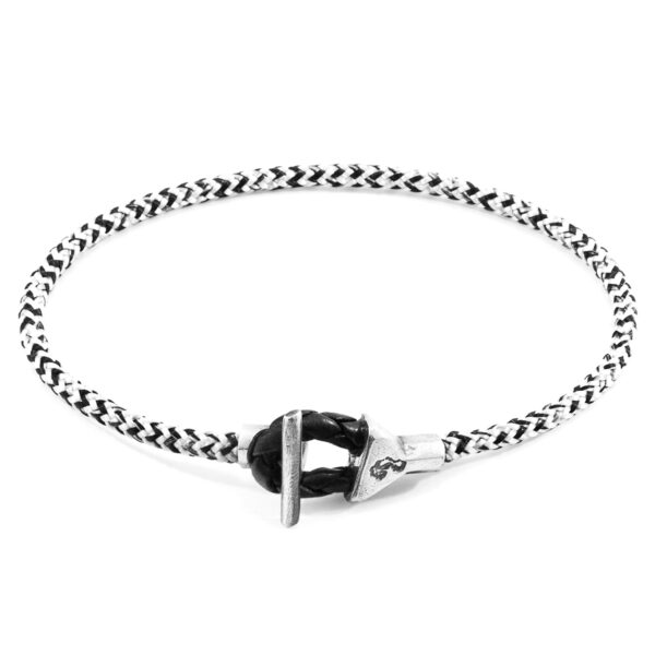 White Noir Cullen Silver and Rope Bracelet