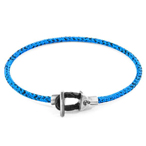 Blue Noir Cullen Silver and Rope Bracelet
