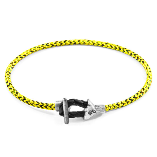 Yellow Noir Cullen Silver and Rope Bracelet