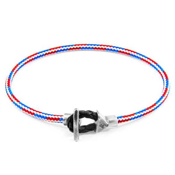 Project-RWB Red White and Blue Cullen Silver and Rope Bracelet