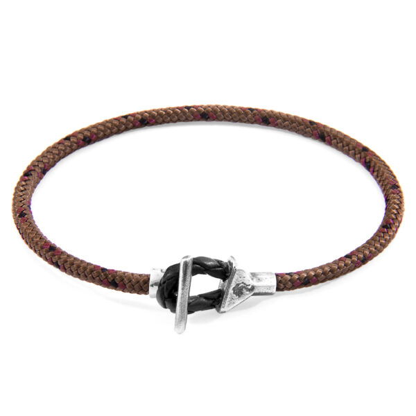 Brown Cullen Silver and Rope Bracelet