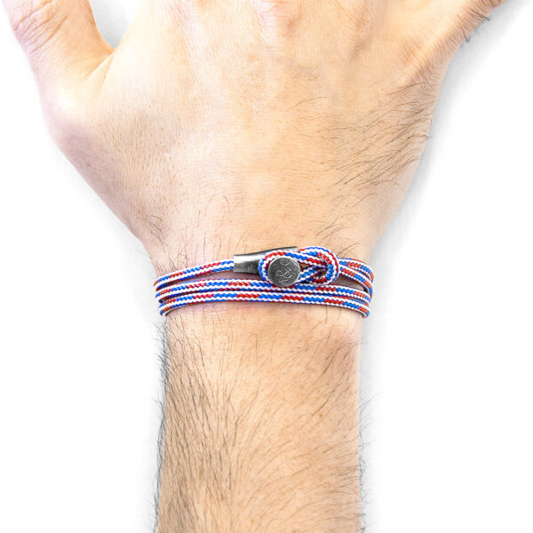 Project-RWB Red White and Blue Dundee Silver and Rope Bracelet